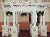 Cuatro decoraciones arreglos para boda civil globos