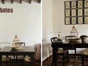 Antes después zona sala estar: composición cuadros