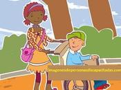 Dibujos imagenes niños discapacidad motriz fisica