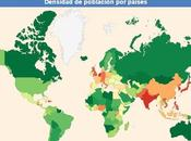 Mapa interactivo sobre densidad población países mundo