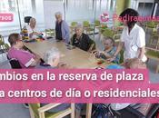 Cambios reserva plaza para centros residenciales Cataluña