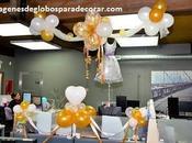 Cuatro imagenes decoracion globos oficina faciles
