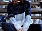 Outfit Monochrome, furry sweater nets