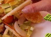 Ensalada tejas queso aliño dulce