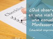 ¿Qué observar visita escuela Montessori? (checklist imprimible) What check when visiting Montessori school?