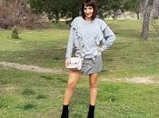 Outfit: Falda Vichy Jersey Volantes