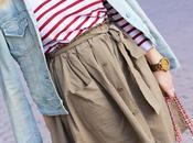 nueva falda color caki Rosegal