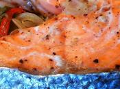 Papillote salmón verduras patatas