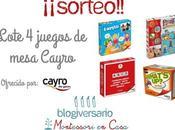 Sorteo lote juegos mesa Cayro blogiversario Montessori Casa)