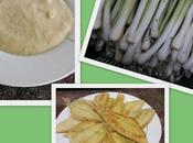Crema puerros patatas quesitos Pelayas fritas