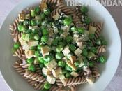 Receta pasta guisantes tofu