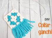 DIY: Collar ganchillo granny square