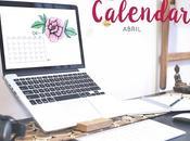 Freebie:Calendario Abril