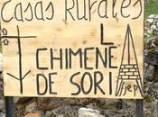Carteles anunciadores casas rurales Chimenea Soria accesos Espeja Marcelino