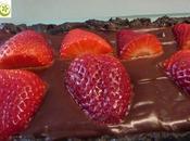 Tarta chocolate fresas