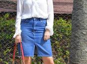 Outfit falda denim body plumeti