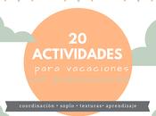 Actividades para vacaciones