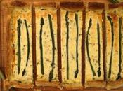 Quiche espárragos queso gorgonzola
