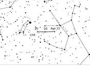 Líridas: estrellas fugaces abril