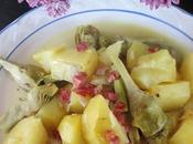 Alcachofas patatas jamon