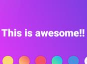 Efecto estado Facebook sobre fondo color jQuery