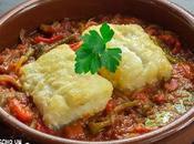 Receta bacalao riojana (bacalao tomate pimientos asados)
