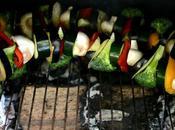 Pinchos vegetales barbacoa