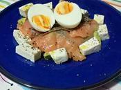 Ensalada salmón queso fresco