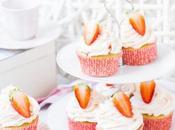 Cupcakes Fresas Almendra. Cupcake Temporada