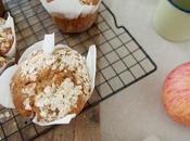 Muffins miel, avena manzana
