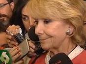 Esperanza Aguirre llora… ¡Qué hecho ella para merecer esto!.