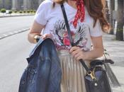 Falda plisada, camiseta guns roses flossy