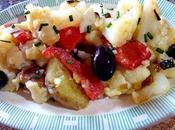Ensalada coliflor patata pimientos Insalata cavoli patate