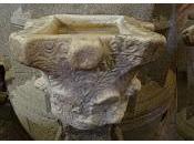 Imagen mes: capiteles hispano-visigodos reconvertidos pilas agua bendita, Iglesia Santa María Asunción Brozas