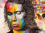 Arte Urbano. impresionante mural geometrizado Paco Lucía metro Madrid