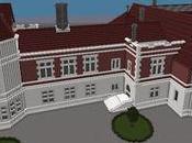 Réplica Minecraft Palacio Miramar, Sebastian, Pais Vasco, España.