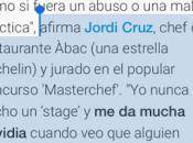 Jordi Cruz mayo hostelería