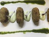 Croquetas puchero canario mayonesa mojo cilantro