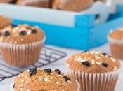 Muffins avena grosellas negras