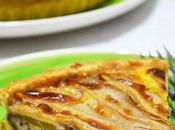 Tarta salada pera, queso azul pecanas