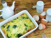Pastel brocoli queso (sin lactosa)
