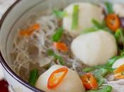 Sopa asiática albóndigas pescado
