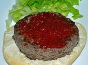 Hamburguesas ternera mermelada pimientos rojos