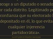 Frase sobre sistema electoral circunscripción uninominal