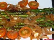 Espárragos verdes verduras