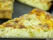 Receta quiche ajos tiernos (tarta salada ajetes)