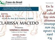 Presentación-coloquio sobre poesía brasileña actual Clarissa Macedo