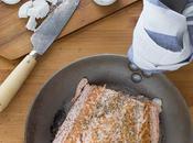 Pastel salmón queso cabra