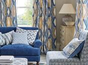 Refrescante, elegante llena color: nueva colección textil Jane Churchill