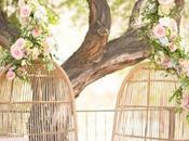 Wedding Inspiration: mecedoras colgantes para novios ceremonias aire libre